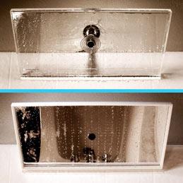 mirror vs clear shower head